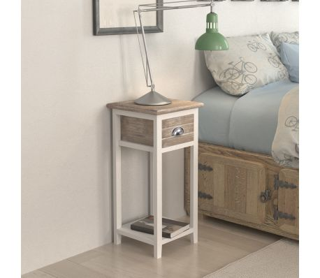 Bedside Cabinet / Telephone Stand With 1 Drawer