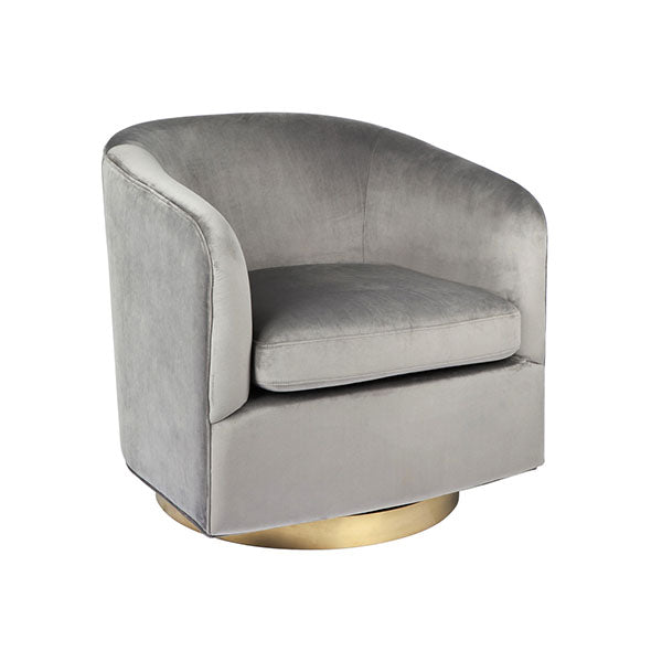 Belvedere Swivel Arm Chair Charcoal