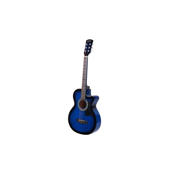 Blue 38 Inch Wooden Acoustic Guitar