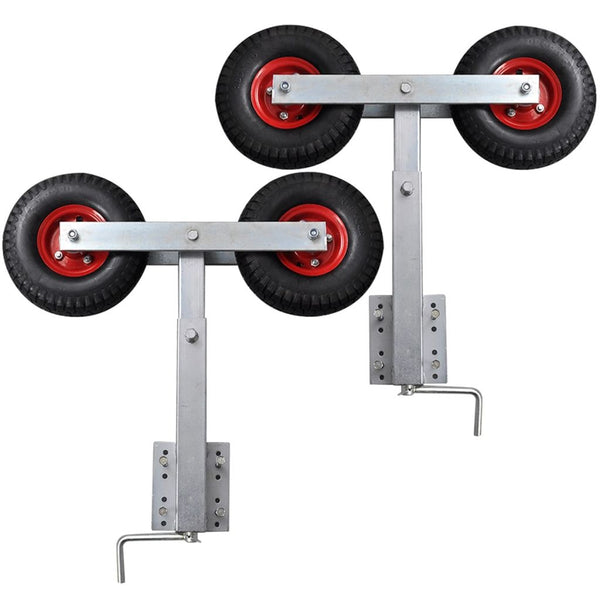 Boat Trailer Double Wheel Bow Support 59 - 84 Cm (2 Pcs)