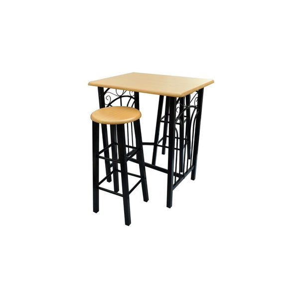 Breakfast / Dinner Dining Table Set MDF - Black