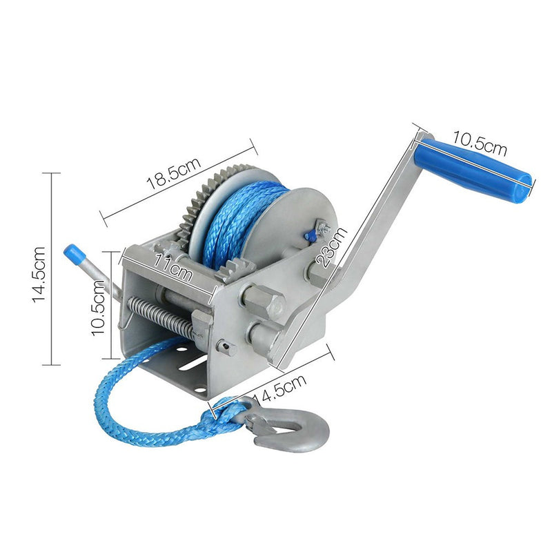 3 Speed Hand Winch with Rope