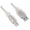 Astrotek USB Printer Cable 3m Type A Male to Type B Male Transparent