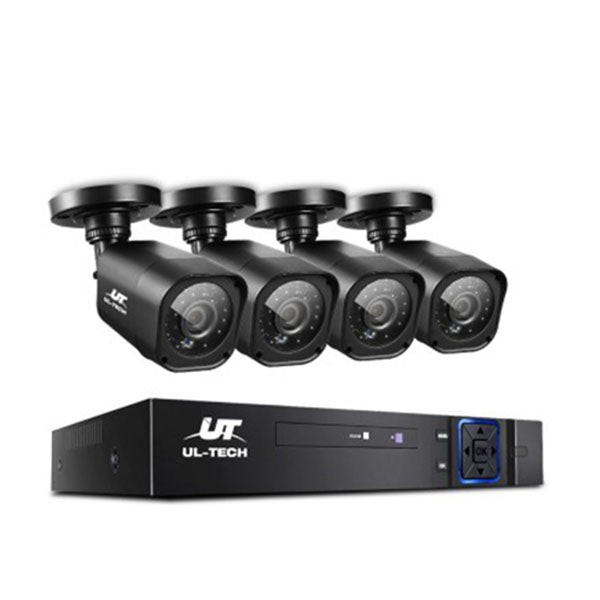 8Ch 5 In 1 Cctv Video Recorder With 4 Cameras 1080P Hdmi Black