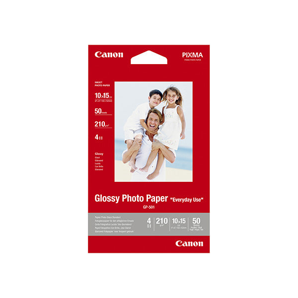 Canon 4x6 Glossy Photo Paper 50 Sheets