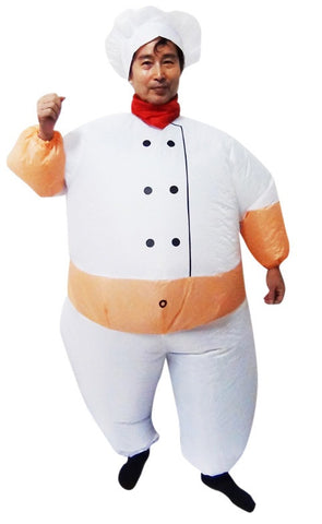 Fan Operated Costume - Chef Fancy Dress Inflatable Suit