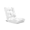 Soga Floor Recliner Folding Sofa Futon Couch Chair Cushion White