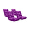 Soga Floor Recliner Folding Sofa Futon Couch Chair Cushion Purple X4
