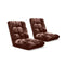 Soga Floor Recliner Folding Sofa Futon Couch Chair Cushion Coffee X2