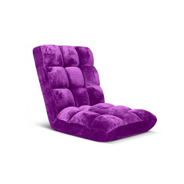 Soga Floor Recliner Folding Sofa Futon Couch Chair Cushion Purple