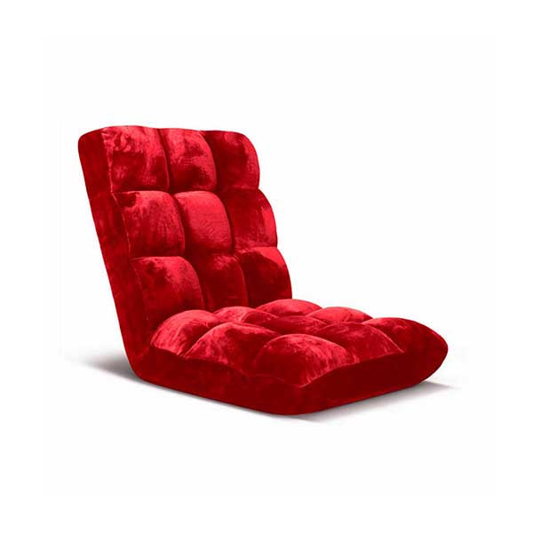 Soga Floor Recliner Folding Sofa Futon Couch Chair Cushion Red