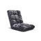 Soga Floor Recliner Folding Sofa Futon Couch Chair Cushion Grey