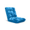 Soga Floor Recliner Folding Sofa Futon Couch Chair Cushion Blue