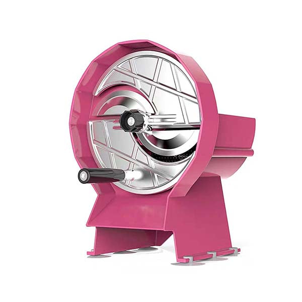 Soga Commercial Manual Vegetable Fruit Slicer Cutter Machine Pink