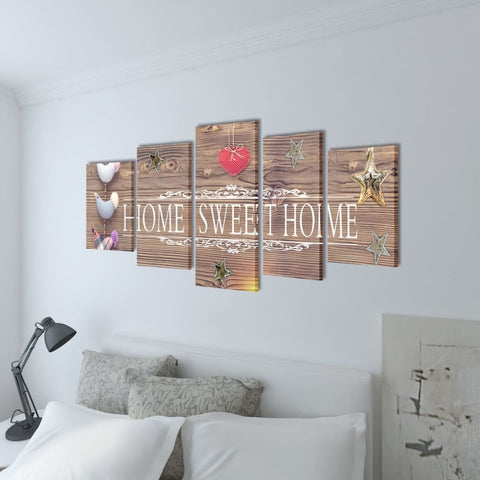 Canvas Wall Print Set - Home Sweet Home Design