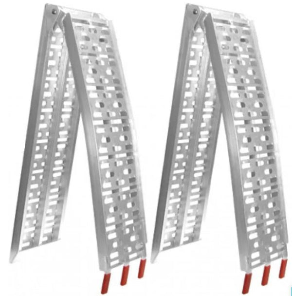 2x Heavy Duty Aluminium Trailer Ramps