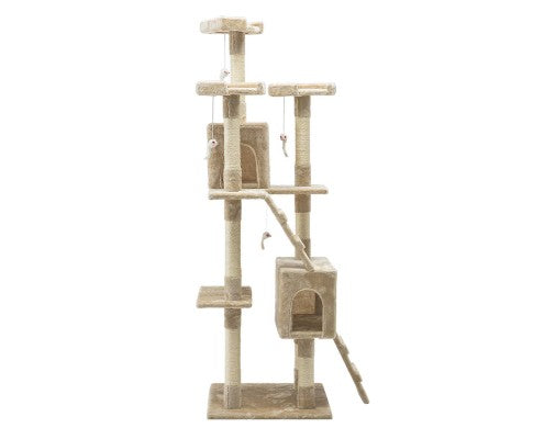 Cat Tree 180Cm Trees Scratching Post Tower Condo House Furniture Wood