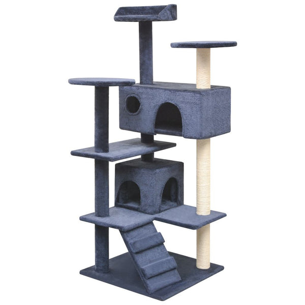 Cat Tree With Sisal Scratching Posts 125 Cm - Dark Blue