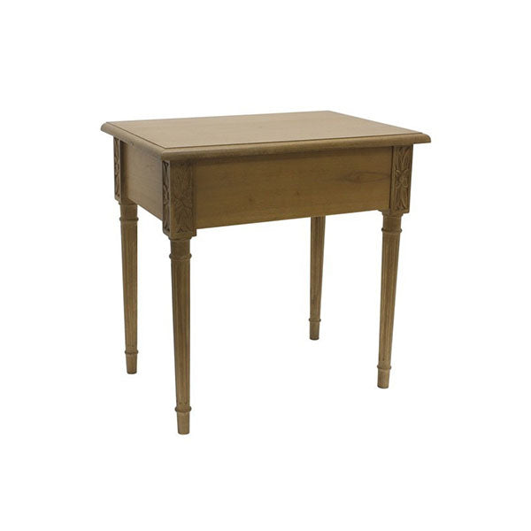 Ceramic Brass Side Table Bedside Mindi Wood