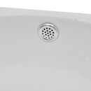 Ceramic Sink with Faucet & Overflow Hole - White