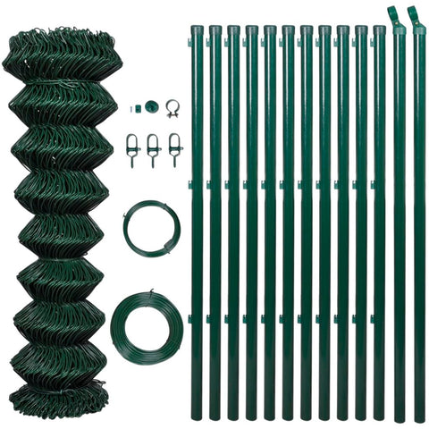 Chain Fence 1.25 x 25 M With Posts & All Hardware - Green