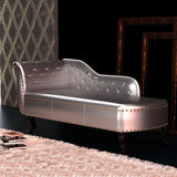 Chesterfield Chaise - Silver