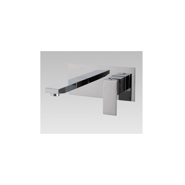 Chrome Basin Wall Mixer With Spout