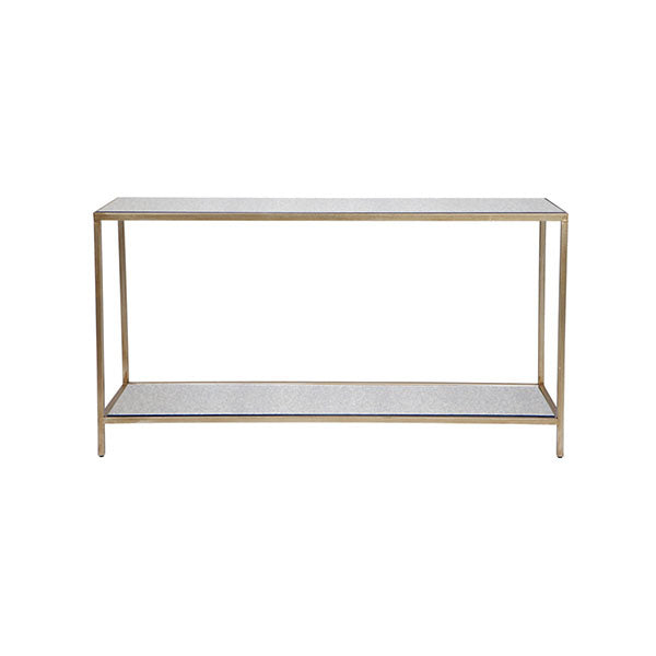 Cocktail Console Table Antique Gold