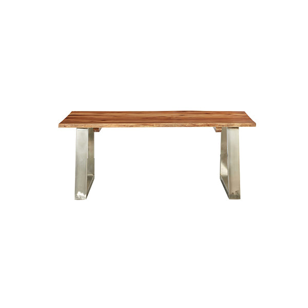 Coffee Table Solid Acacia Wood And Stainless Steel