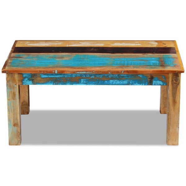 Coffee Table Solid Reclaimed Wood 100 x 60 x 45 Cm