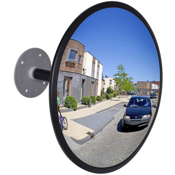Convex Indoor Acrylic Traffic 30cm Mirror - Black