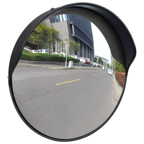 Convex Traffic Mirror PC Plastic 30 Cm - Black