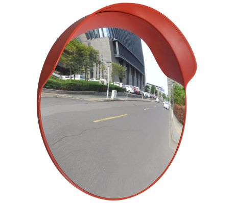 Convex Traffic Mirror PC Plastic 60 Cm Outdoor - Orange