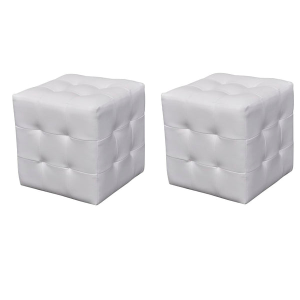 Cubed Stool (2 Pcs) - White