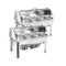 Soga 2X Stainless Steel Roll Top Chafing Dish 3X3L 3 Trays Food Warmer