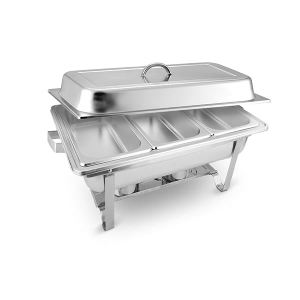 Soga 3X3L Stainlessteel Chafing Food Warmer Catering Dish Three Trays