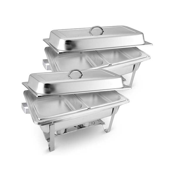 Soga 2X Stainless Steel Chafing Food Warmer Catering Dish Dual Trays