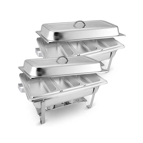 Soga 2X Stainless Steel Chafing Food Warmer Dish 3X3L Three Trays