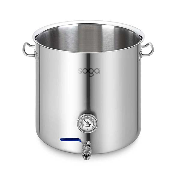 Soga Stainless Steel 98L No Lid Brewery Pot With Beer Valve 50X50Cm