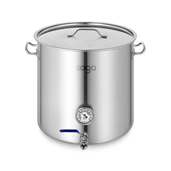Soga Stainless Steel Brewery Pot 71L With Beer Valve 45X45Cm