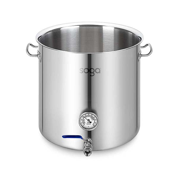 Soga Stainless Steel 50L No Lid Brewery Pot With Beer Valve 40X40Cm