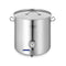 Soga Stainless Steel Brewery Pot 98L With Beer Valve 50X50Cm