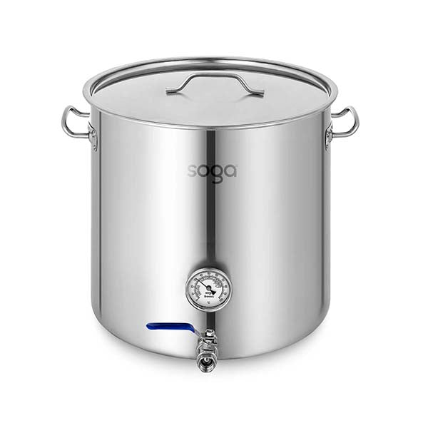Soga Stainless Steel Brewery Pot 50L With Beer Valve 40X40Cm