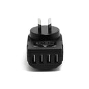 3.4A 4 USB Port Travel Home Wall Charger AU Plug for iPhone Samsung