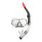 Deluxe Snorkel and Mask Set for Adult Black Blue