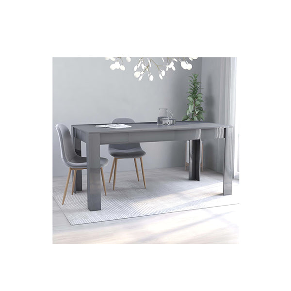 Dining Table High Gloss Chipboard Grey