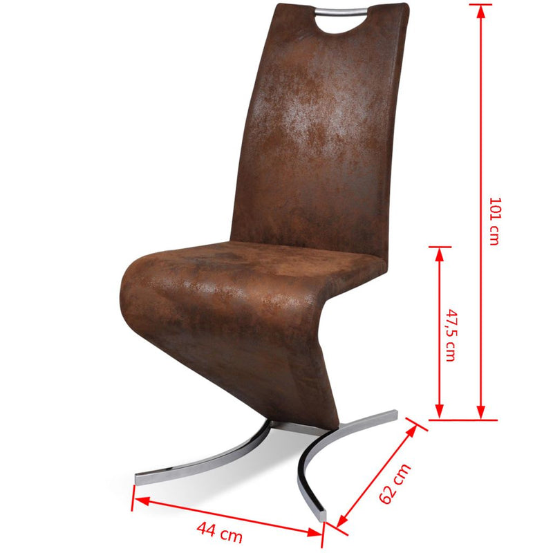 Dining Chairs Cantilever H-shaped Artificial Leather (2 Pcs)