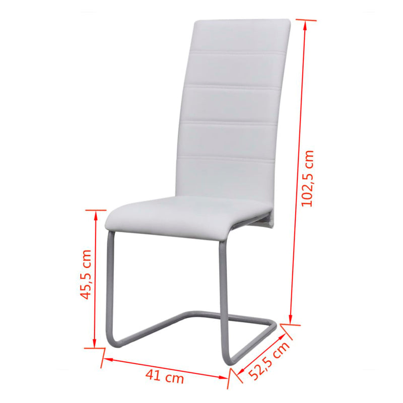 Dining Chairs Cantilever (Set Of 4) - White
