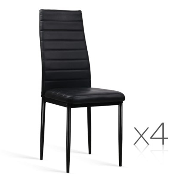 Dining Chairs PVC Leather (Set Of 4)
