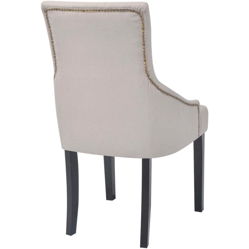 Dining Chairs Polyester (2 Pcs) - Cream